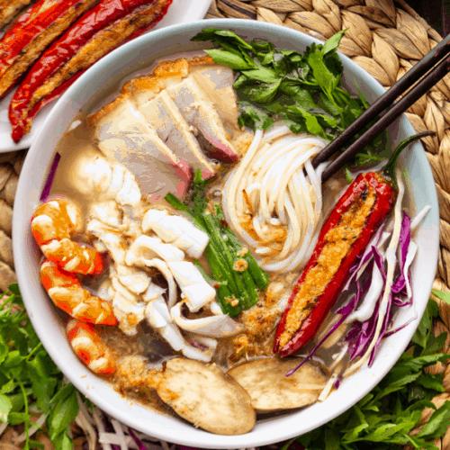 Bun Mam Vietnamese Fermented Fish Noodle Soup Wok And Kin